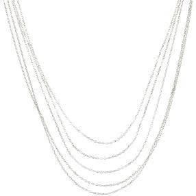 Ketten-Set 5 teilig 925 Sterling Silber