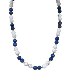 Collier Lapis+Howlith
