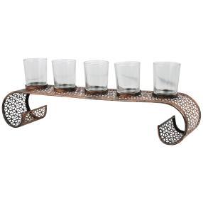Metall-Kerzenhalter mit Glas