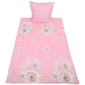 CoolSummer Bettwäsche 2tlg. Blumen rosa