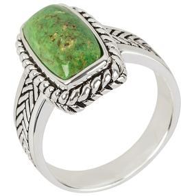 Ring 925 St. Silber Türkis grün stabilisiert