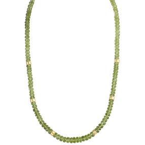 Collier Peridot, 925 Silber vergoldet