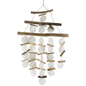 Windspiel Muschel mit Holz