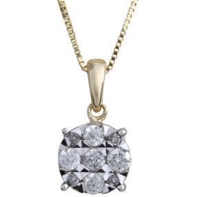 Anhänger Kette 375 Gelbgold Diamanten