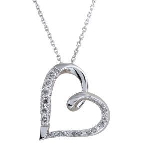 Anhänger Kette 925 Sterling Silber  Diamanten