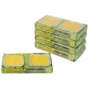 Citronella-Kerze in Alu-Schale 10tlg.