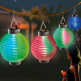 Solar Gartenlampion mit Farbwechsel