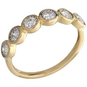 Ring 375 Gelbgold Brillanten