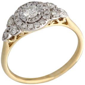 Ring 375 Gelbgold Brillanten
