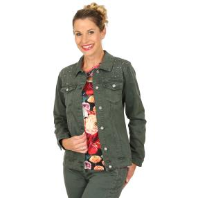 mocca by Jutta Leibfried Jeans-Jacke khaki