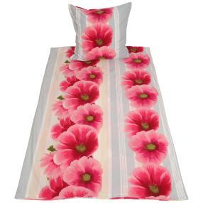 WinterDreams Bettwäsche 2tlg. Blumen Streifen