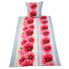 WinterDreams Bettwäsche Blumen Streifen 155x220cm