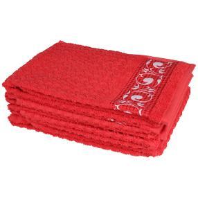 Handtuch 4tlg. rot