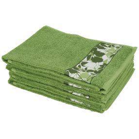 Handtuch 4-teilig, Blätter frün