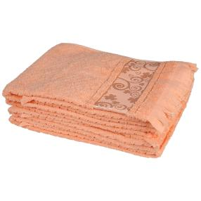 Handtuch 4tlg. Fransen apricot