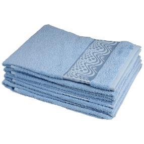 Handtuch 4-teilig, Wellen hellblau