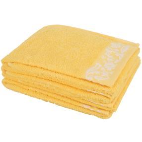 Handtuch 4-teilig, Margerite gelb