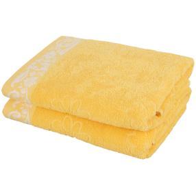 Duschtuch 2-teilig, Margerite gelb
