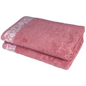 Duschtuch 2tlg. Margerite rosé