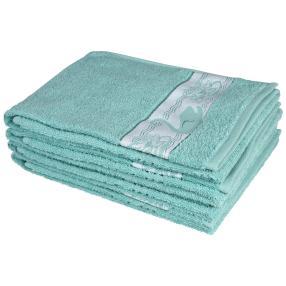 Handtuch 4tlg. Schwan türkis