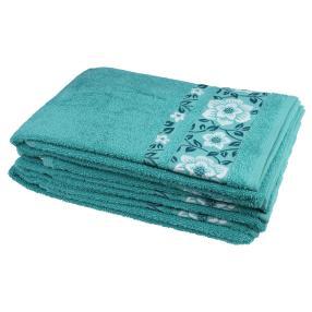 Handtuch 4-teilig, Lilien smaragd