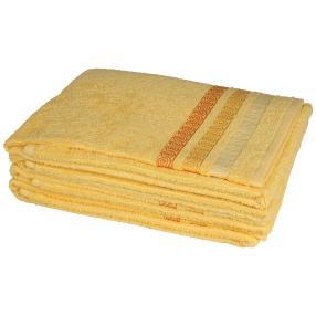 Handtuch 4-teilig, Zopfmuster gelb