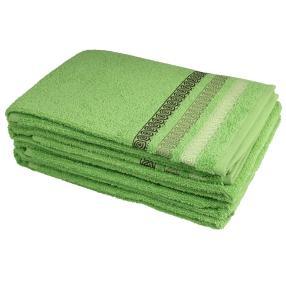 Handtuch 4tlg. Zopfmuster grün