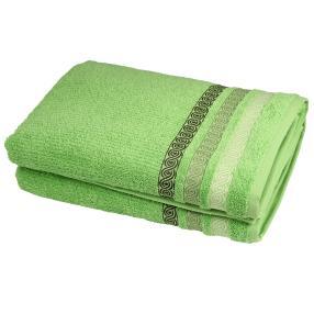 Duschtuch 2tlg. Zopfmuster grün