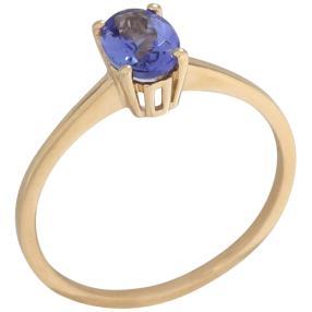 Ring 375 Gelbgold AA+Tansanit