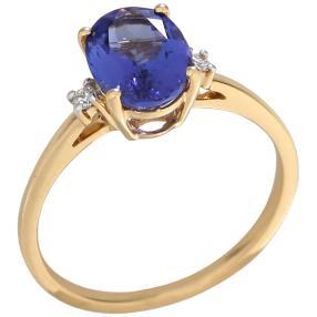 Ring 750 Gelbgold, AAATansanit