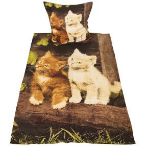CoolSummer Bettwäsche 2-teilig, Katzenpärchen
