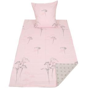 AllSeasons Bettwäsche 2tlg. Blätter rosa