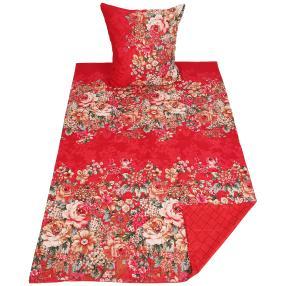 AllSeasons Bettwäsche 2-teilig, floral rot