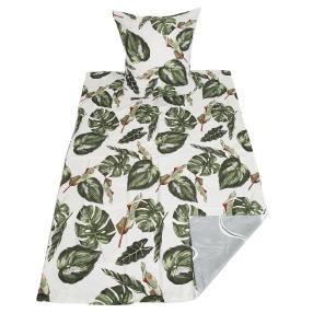 AllSeasons Bettwäsche 2-teilig, Blätter grün-weiß