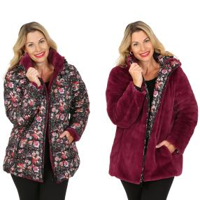 FASHION NEWS Wende-Webpelz-Jacke, beere
