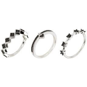 3-teiliges Set Ring 925 St. Silber Spinell