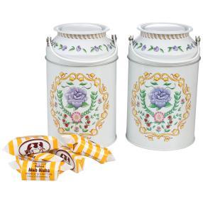 Milchkanne weiß Blumendekor