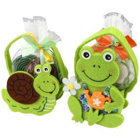 Filztasche Schnecke und Frosch 2er Set mit HARIBO