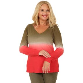 CANDY CURVES Pullover oliv/chianti