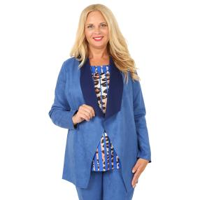 CANDY CURVES Cardigan blau