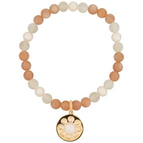 Armband Mondstein, Perle