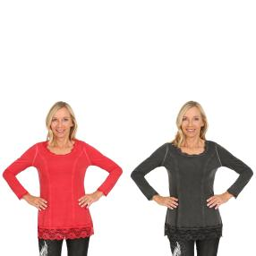 VV 2er Pack Shirt 'Thalia' chianti & schwarz