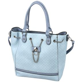 Damen Shopper, blau, blaugrau