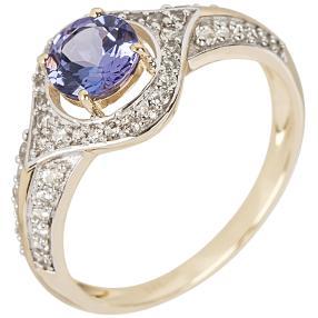 Ring 375 Gelbgold AAA Tansanit