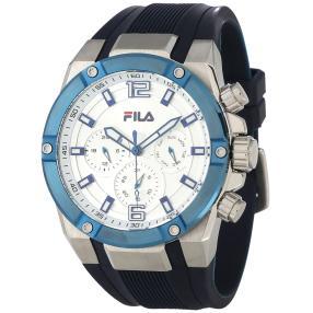 FILA Herren-Chronograph silber, blau