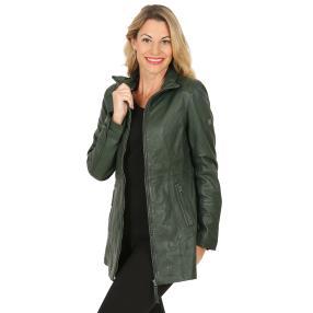 OTTO KERN Damen-Lederjacke 'Bella' flaschengrün