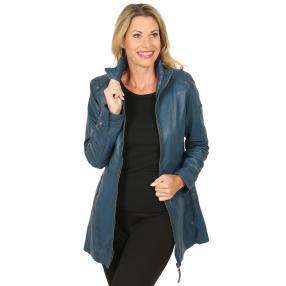 OTTO KERN Damen-Lederjacke 'Donna' blau