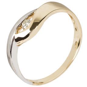 Ring 585 Gold bicolor mit Diamant