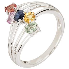 Ring 925 St. Silber Saphir multicolor