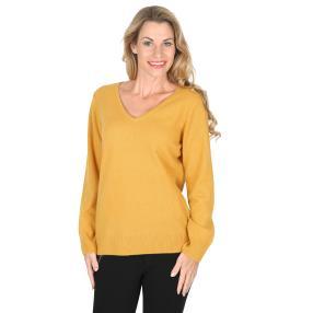 100% KASCHMIR Pullover senfgelb
